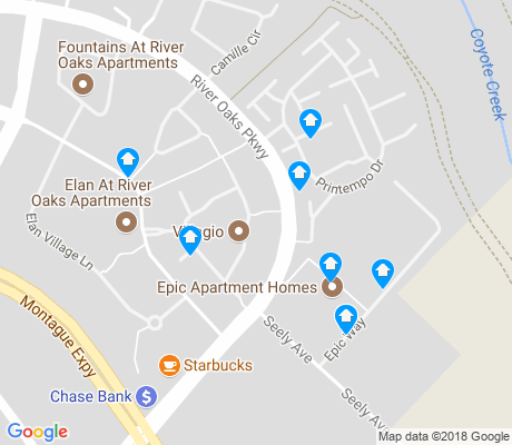 map of River Oaks apartments for rent