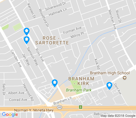 map of Rose-Sartorette apartments for rent