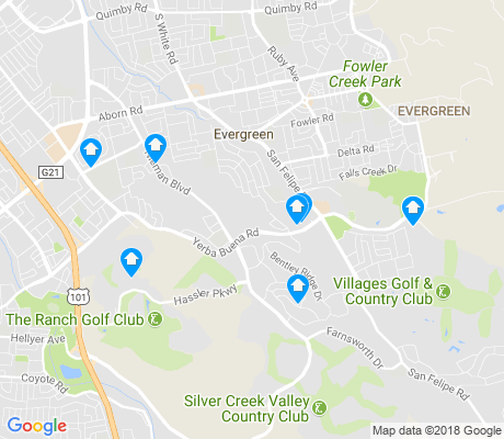 map of Silver Creek apartments for rent