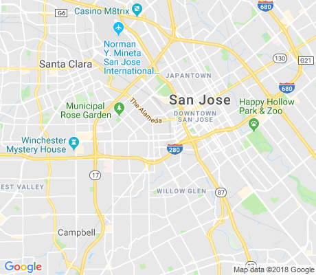 map of Sunol-Midtown apartments for rent