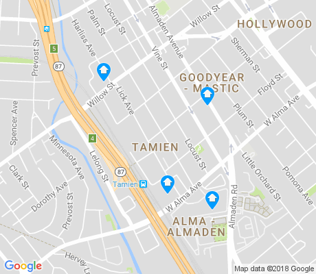 map of Tamien apartments for rent