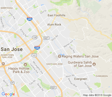 map of Tanglewood-El Monte apartments for rent