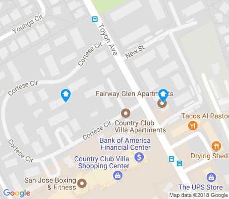 map of Toyon apartments for rent