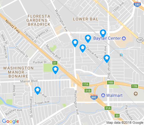 map of Floresta apartments for rent