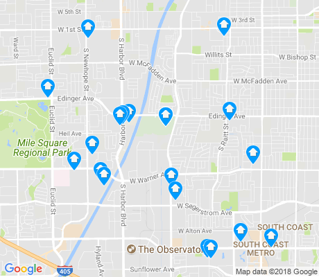 map of 92704 apartments for rent