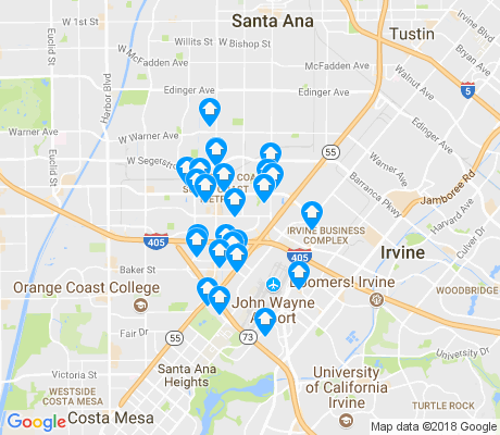 map of 92707 apartments for rent