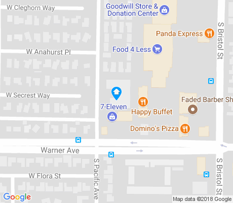 map of Bristol Warner apartments for rent