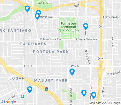 map of Cabrillo Park apartments for rent