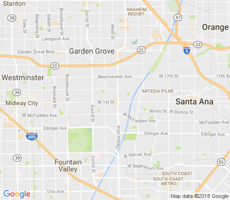 map of Harbor Boulevard apartments for rent