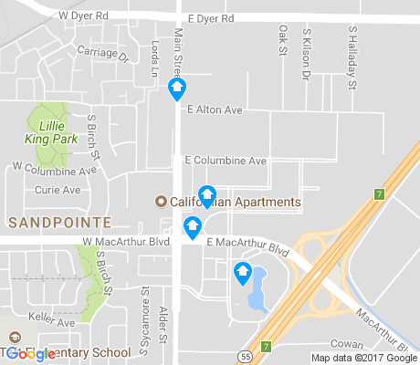 map of MacArthur Place - Hutton Centre apartments for rent