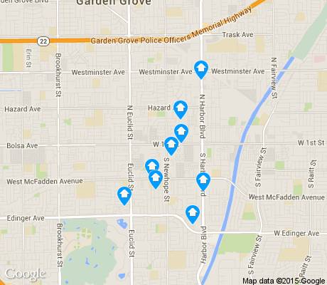 map of Riverview West apartments for rent