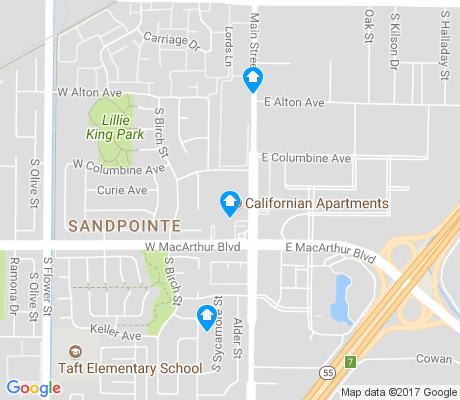 map of Sandpointe apartments for rent