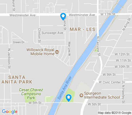 map of Santa Anita Park apartments for rent