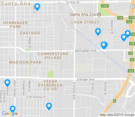 map of Southeast Industrial District apartments for rent