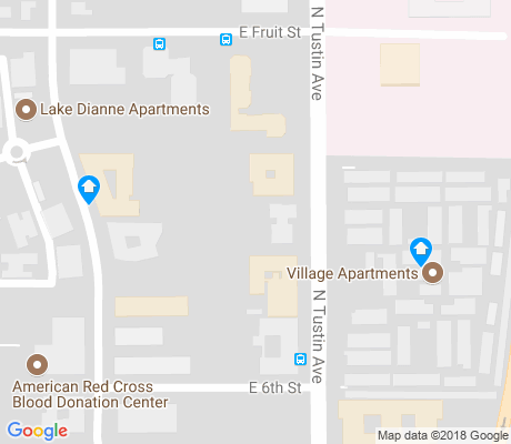 map of Tustin Avenue apartments for rent
