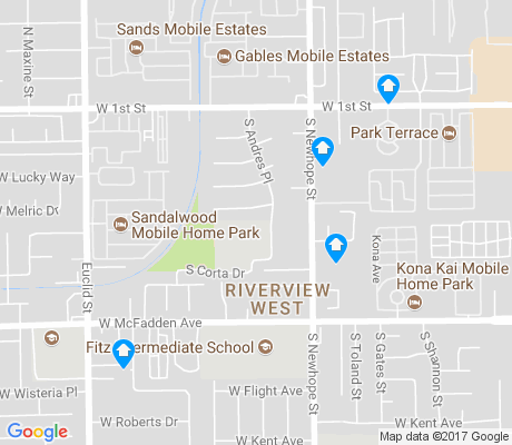 map of West Side apartments for rent