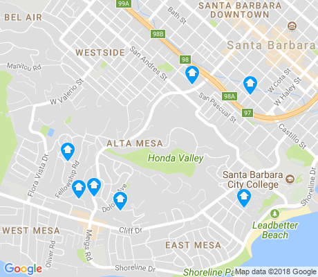 map of Alta Mesa apartments for rent