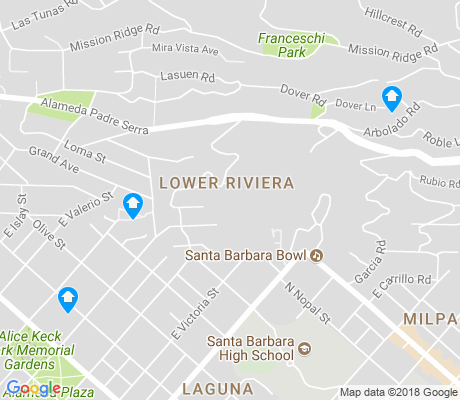 map of Lower Riviera apartments for rent