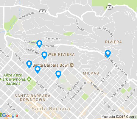 map of Riviera apartments for rent