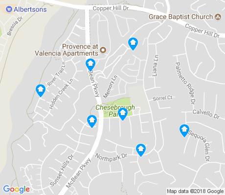 map of Valencia Northpark apartments for rent