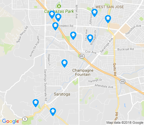 map of Saratoga apartments for rent