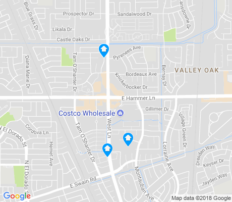 map of Valley Oak apartments for rent
