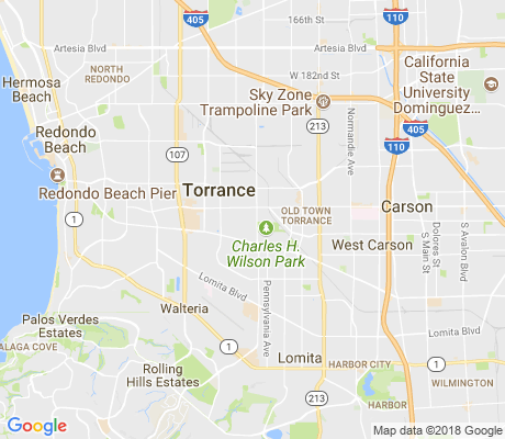 map of Torrance Windemere apartments for rent