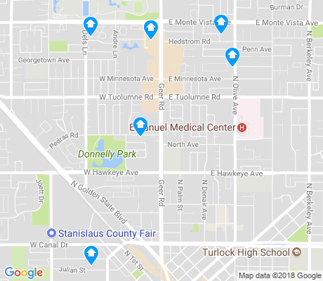map of Turlock apartments for rent