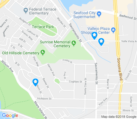 map of Vallejo Heights apartments for rent