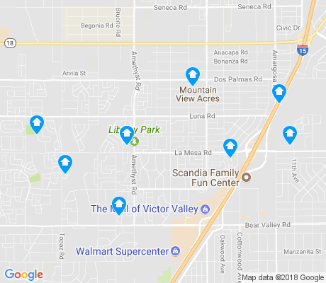 map of West Bear Valley apartments for rent