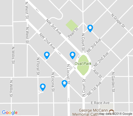 map of East Visalia apartments for rent