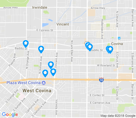 map of Freeway Corridor apartments for rent