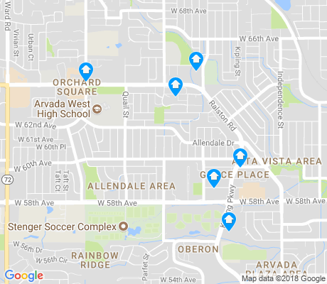 map of Allendale Area apartments for rent