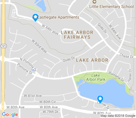 map of Lake Arbor apartments for rent