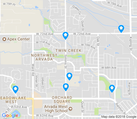 map of Northwest Arvada apartments for rent