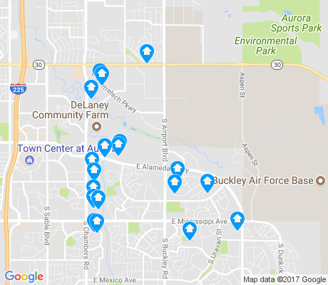 map of 80017 apartments for rent