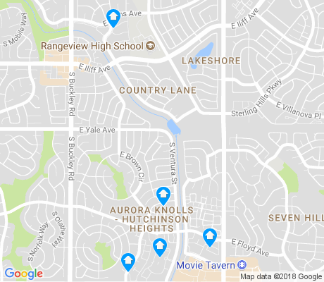 map of Aurora Knolls - Hutchinson Heights apartments for rent
