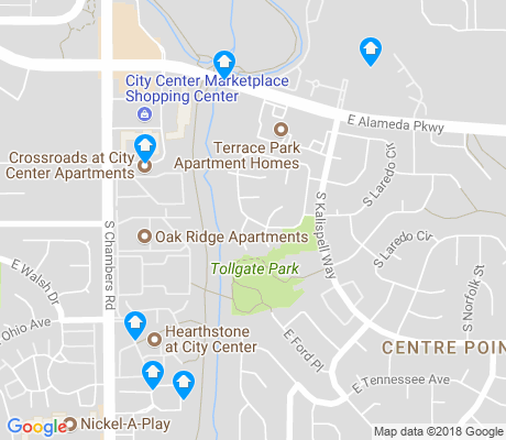 map of Center Pointe apartments for rent