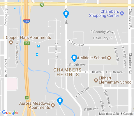 map of Chambers Heights apartments for rent