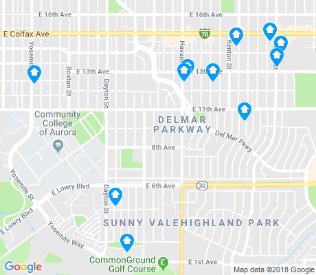 map of Del Mar Parkway apartments for rent