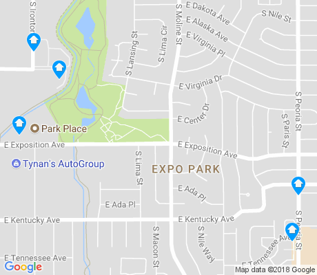 map of Expo Park apartments for rent
