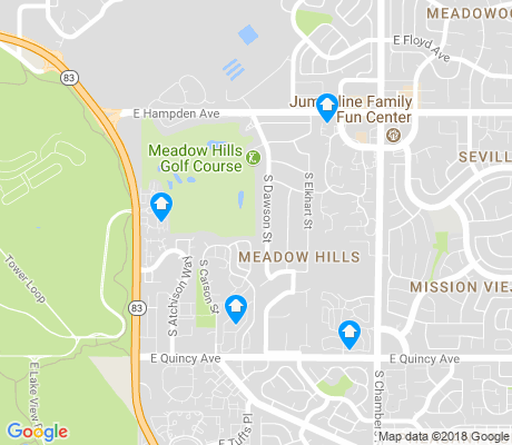 map of Meadow Hills apartments for rent
