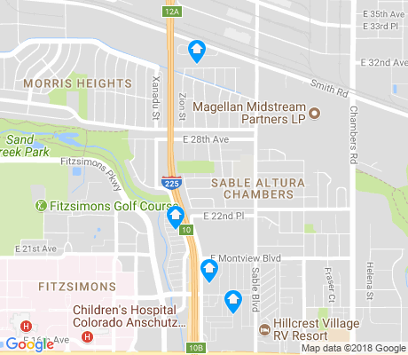 map of Sable Altura Chambers apartments for rent