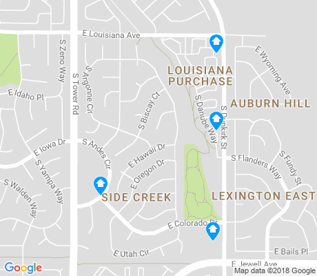 map of Side Creek apartments for rent