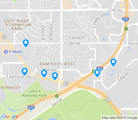 map of The Dam apartments for rent