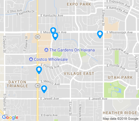 map of Village East apartments for rent