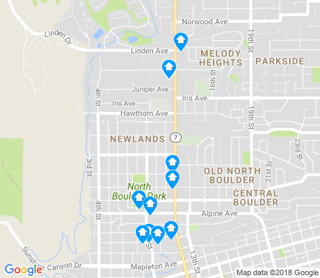 map of Newlands apartments for rent