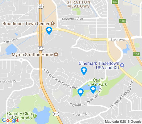 map of Cheyenne Hills apartments for rent