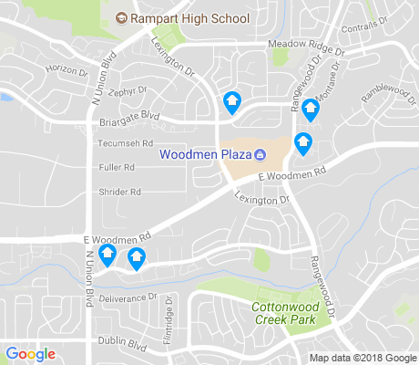 map of Columbine Estates apartments for rent