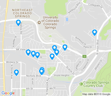 map of Cragmoor apartments for rent